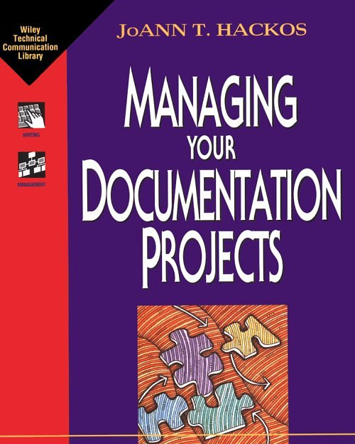 text cover: Joann T. Hackos, Managing your Documentation Projects